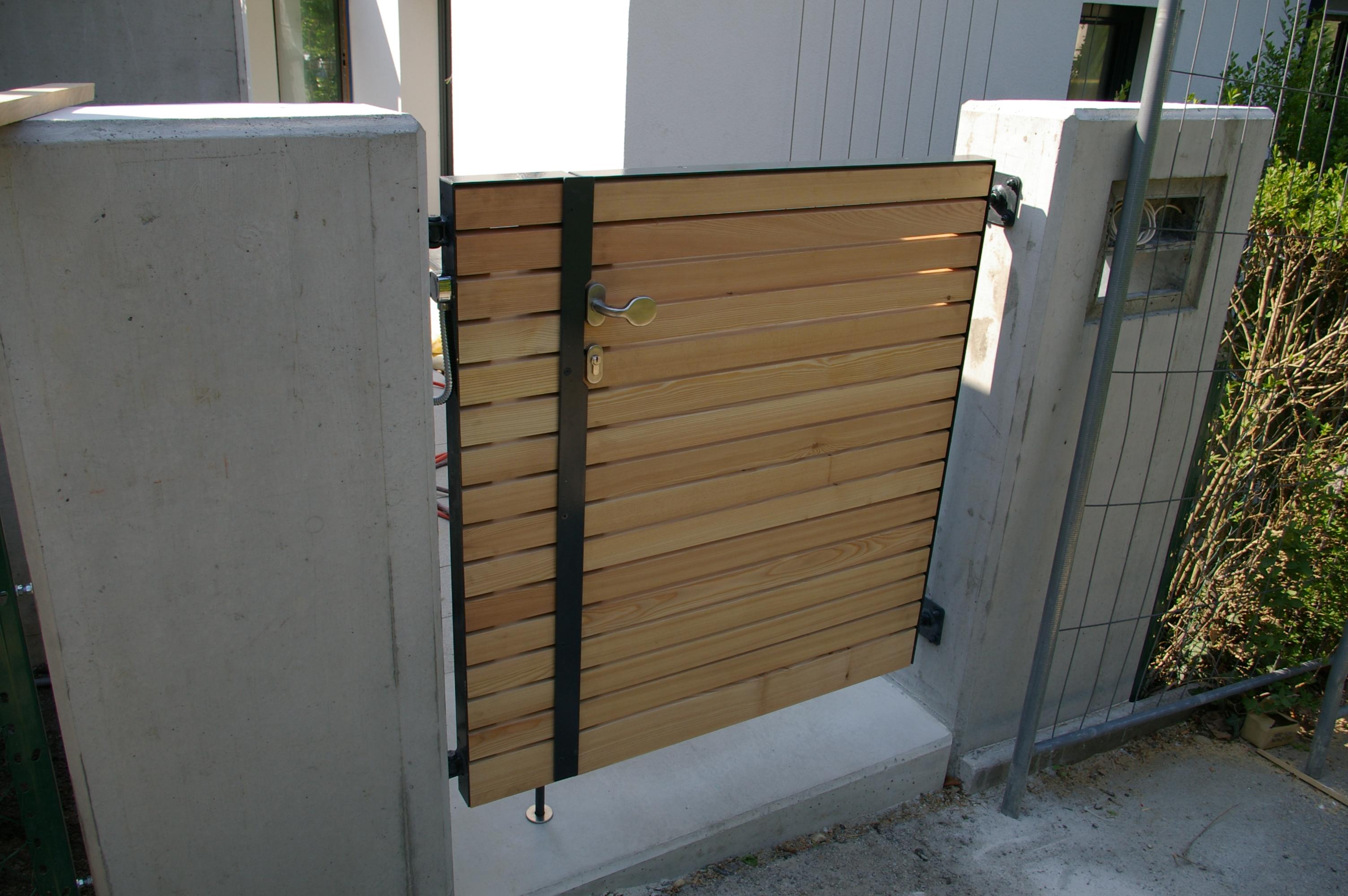 Gartentor Holz Und Edelstahl ~ ET931 Gartentor mit Holz929